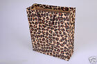 LUXURY LEOPARD PRINT PAPER BOUTIQUE PARTY BAGS WITH HANDLES-RECYCLABLE GIFT LOOT