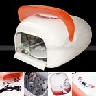 36W 220V 110V Auto Sensor Nail Art Curing Gel UV Lamp Light Fan Dryer & 4 Bulb