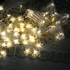 US Stars 138 LED Curtain String Lights Wedding Home Party Christmas Decoration