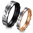 Alway be with you Stainless Steel Love promise Ring Wedding Ring Engagement Band