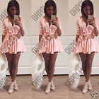 Womens Button Up Ladies Party Going Out Evening Tunic Casual Mini Shirt Dress