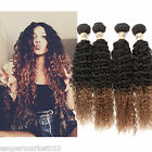 4Bundles Ombre Human Hair Extension Brazilian Hair Two Tone1B/30# Curly Wave Hot