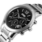 New Mens Analog Quartz Date Sport Army CHRONO 30M WR Stainless Steel Wrist Watch