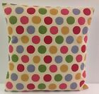 TRENDY NEW BLUE RED GREEN BEIGE CARAMEL SPOTTED SHABBY CHI-STYLE CUSHION COVERS