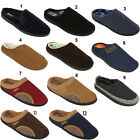 Mens New Classic Luxury Slip On House Comfort Mules Slippers Shoes Sizes Uk 6-12