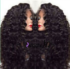 Deep curly 100% Brizilian remay human hair full/front lace wig with 160% density