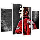 MS378 Eric Cantona Back Jersey 7 Artistic Canvas Art Multi Panel Split Picture