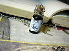 Poison 2ml Glass Bottle Necklace - Toxic Goth Halloween Cork Vial Charm - Toxin