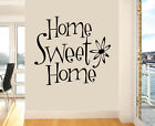 Home Sweet Home Wall Art Stickers Family Quote Flower Transfers Decals Murals