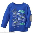 New JUMPING BEANS Boys ~ MEGA BOTS Robot Graphic Tee Top ~ Blue ~ 18 months Baby