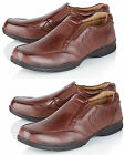 Inextensio Mens Leather Lined Wide Fit Office Formal Wedding Casual Shoes Size