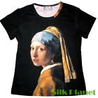 JAN VERMEER GIRL PEARL EARRING T SHIRT TOP FINE ART PRINT PAINTING