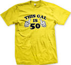 This Gal Is 50 Fifty Years Old Two Thumbs Birthday Happy Am Party Men's T-Shirt