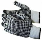 Lightweight Cotton/Polyester Work Gloves Double Sided PVC Dot Size 9 Large