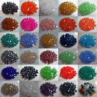Assorted Color 100Pcs Faceted Glass Crystal Nice Bead Spacer Bicone Finding 4mm