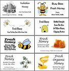 LARGE PERSONALISED HONEY JAR LABELS - 8 PER SHEET