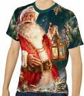 Santa And The Snowman Men's Clothing T-Shirts S M L XL 2XL 3XL