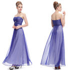 Ever Pretty Strapless Blue Summer Long Evening Party Prom Gown 09988