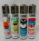 #42 Clipper Original Classic Lighter Christmas Happy Hols Print Set Or Single