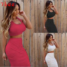 Sexy Women's Summer Bandage Slim Sleeveless Bodycon Evening Party Cocktail Dress