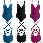 One-piece Bandage Push Up Cut Out Backless Swimsuit Swimwear Beach Bathing-suit