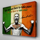 S561 Conor McGregor Here to Take Over UFC Canvas Art Framed Poster Picture Print
