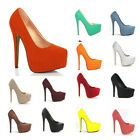 Women's Platform Stiletto Classic High Heel Multi Color Pump US 5 6 7 8 9 10 11