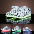 Lovers Mens Womens Trainers USB Charger 7 Colors Led Lighted Up Sneaker shoes