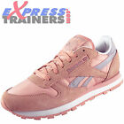Reebok Classic Womens Girls Leather Seasonal Retro Trainers Pink *AUTHENTIC*
