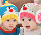 New Baby Kids Infant Winter Christmas Warm Knit Hat Doraemon Beanie Cap