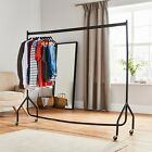 New Super Heavy Duty Durable Sturdy Steel Portable Wardrobe Hanging Clothes Rail