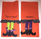 Ganz Halloween Hand Towel Party Ghoul or Wicked Linen/Cotton Guest Kitchen NEW