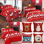 Christmas Duvet Cover + Pillowcase XMas Children Quilt Cover Single Double King