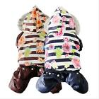 Waterproof Pet Dog Thick Warm Coat Jacket Puppy Jumpsuit Clothes Snowman Costume