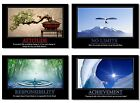 """4x Poster Motivational Self Positive Quotes Inspirational Office Wall 20 30 36"""""""