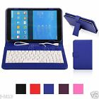 "Keyboard Leather Case Cover For 8"" Samsung Galaxy Tab 4 8.0 T330 Tablet MDHW"