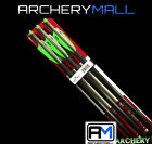 "NEW 6 VICTORY ARROWS/ BOLTS FOR CROSSBOW 20"" or 22"" HALF MOON NOCKS"