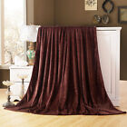 Super Soft Large Fleece Sofa Bed Cover Warm Blanket Throw 3 Sizes Room Decor