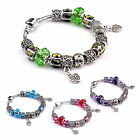 Fashion European Style Heart Charm Beads Crystal Bracelet Gift for friend