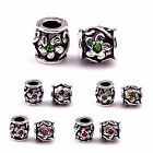 Hot Fashion Big Hole European Charms Zinc Alloy Beads For European Bracelets