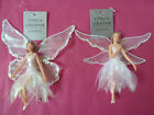 Gisela Graham Iridescent Resin/Fabric Fairy Christmas Decoration (2 asst) 14cms