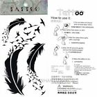 Body Art Sticker Tattoo Feather Gothic Temporary Waterproof Removable Gift Xmas