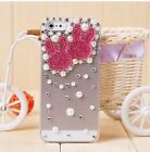 3D iPhone 4/4s Transparent Cover Case Bling handmade Rabbit Crystal Rhinestone