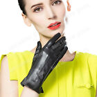 Women's Driving Winter Genuine Lambskin Leather Gloves For Women Four Colors New