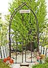 Arbour and Gate For Fairy Garden ~ Fairy Garden Accessory  with Miniature Sign