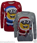 Labreeze Ladies Girl Running Minion Christmas Knitted Jumper Novelty Sweater Top