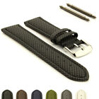 Synthetic Resin Waterproof Watch Strap Band Toulon, Stainless Steel Buckle, Pins