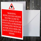 FUNNY BIRTHDAY CARD FOR MUM OR DAD MOTHER FATHER