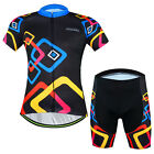 Square Rings Men's Cycling Clothing Suit Bicycle Jersey + Bike (Bib) Short Set