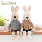 "Le Sucre with Coat 27.5"" Big Plush Doll Rabbit Rag Genuine Rabbits Cushion Toy"